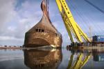 1400 araç ile batan geminin enkazı böyle çıkarıldı