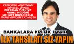 """Bozacıoğlu: Bankalara """"İlk tahsilatı siz yapın"""" diyoruz"""