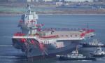 Çin'in ilk yerli uçak gemisi suya indi