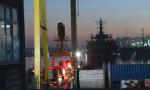Tuzla'da gemi yandı