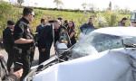 Bakan Soylu'nun konvoyu önünde trafik kazası