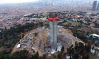 Çamlıca'daki TV kulesinin inşaatı havadan görüntülendi