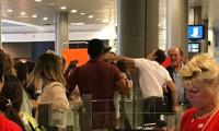 Havalimanında beklenmedik yumruk!