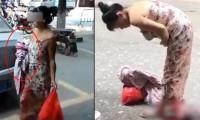 Alışverişten dönerken sokakta doğurdu, bebeğini kucaklayıp eve döndü!