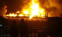 Halkalı Gümrüğü'nde büyük yangın