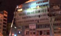 Aksaray'daki İSKİ binasında yangın