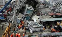 Tayvan'da yıkılan binalar için 3 gözaltı