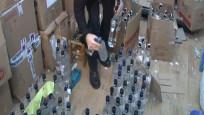 Yılbaşı öncesi binlerce şişe kaçak içki ele geçirildi