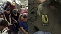 Galaxy S6 uçakta patladı