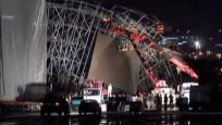 30 Ağustos kutlamaları için kurulan sahne çöktü
