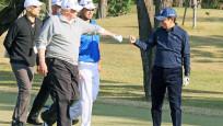 Trump ile golf oynayan Japonya başbakanı çukura düştü