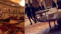 Prenslerin tutulduğu otelden ilk görüntü mü? Yer yatakları, silahlı güvenlik...