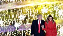 Donald ve Melania Trump ilk Ulusal Noel Ağacı ışığını yaktı