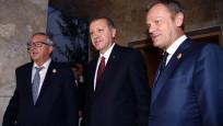 Erdoğan, Tusk ve Juncker ile görüştü