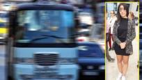 Şort giydiği için genç kızı minibüste darp eden saldırgan kamerada