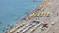 Antalyalılar denize koştu