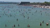 İstanbul'da plajlar doldu taştı