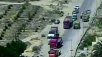 Mısır'da bomba yüklü aracın patlama anı kamerada!