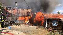 Bir köyün yarısı yangında yok oldu
