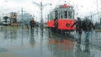Beklenen yağmur istanbul'a geldi