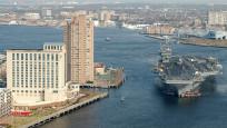 En büyük ve en güçlü savaş gemisi limana girdi
