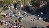 Barcelona'daki terör saldırısından ilk görüntüler