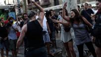 Katalan solcular İslam karşıtı gösteriyi engelledi