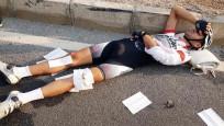 Şampiyon bisikletçiye otomobil çarptı
