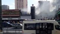 Şirinevler'de metroda yangın çıktı