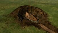 Norveç'te arkeologlar toprak altında Viking gemisi buldu