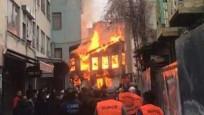 Bursa'da Tarihi Kayhan Çarşısı'nda yangın