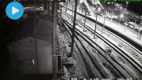 Ankara'daki hızlı trenin çarpışma anı