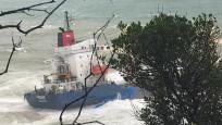 Şile'de gemi karaya oturdu! 16 mürettebat mahsur kaldı