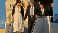 First Lady Trump'ın elini yine tutmadı!