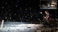 Kars'ta nisan karı! Yollar kapandı