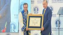 Erdoğan'a fahri doktora ünvanı verildi
