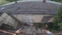 Çatılarda şov yapıyorlardı! Beklemedik sonla karşılaştılar