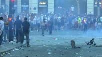 Paris'te şampiyonluk kutlamaları çatışmalara dönüştü
