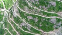 Trabzon'da dünyanın en tehlikeli yolunda doğa yürüyüşü