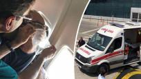 Uçakta yolcu kalp krizi geçirdi