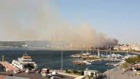 Çanakkale'de yangın çıktı