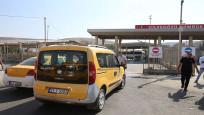 Cilvegözü Sınır Kapısı önünde taksici eylemi