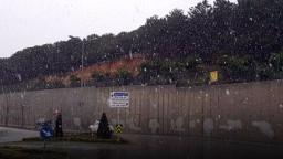 İstanbul'da bu sabah lapa lapa kar yağdı