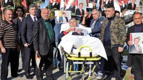 Varan turizmin eski patronu sedyede eylem yaptı