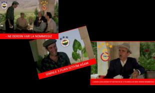 Galatasaray-Fenerbahçe maçı Caps'leri