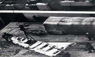 Sovyet Uzay Aracı, insanız bir hava uçuşu sonrasında böyle görüntülendi,