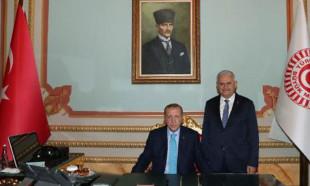 Erdoğan TBMM Başkanı Yıldırım'ı ziyaret etti