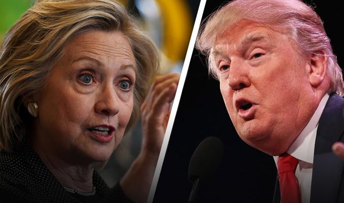 Clinton başkanlık yarışında Trump'ın önünde