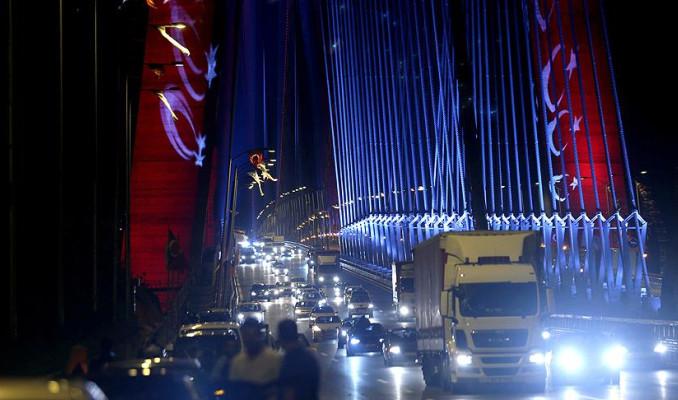 Yavuz Sultan Selim Köprüsü'nden araç geçişleri başladı