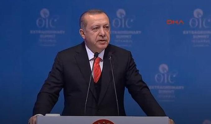 Erdoğan'dan tarihi çağrı: Kudüs'ü Filistin'in başkenti olarak tanımaya çağırıyorum